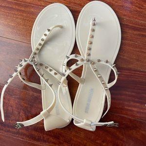 Steve Madden 'Jely Bely' Nude Spike Sandals size 9
